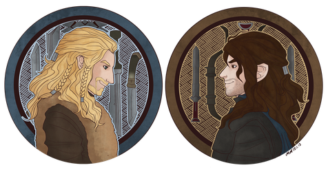 The Hobbit - Brothers Fili and Kili by kiwii