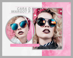 Photopack 16788 - Cara Delevingne y Margot Robbie by southsidepngs