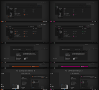 After Dark Orange, Pink Theme Win10 Fall Creators by Cleodesktop