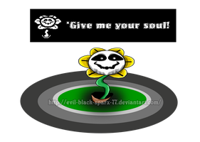 Flowey - Give me your soul! by Evil-Black-Sparx-77