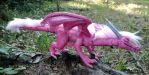 Custom Pink Soft Sculpture Dragon by The-GoblinQueen
