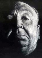Alfred Hitchcock Etching by Dr-Horrible