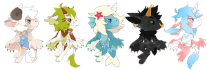 All these smols (closed) by Scarlettt-Adopts