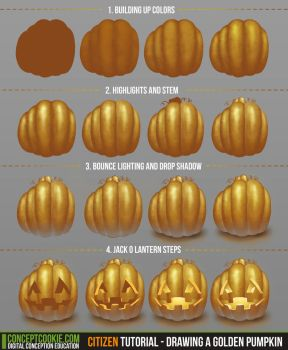 Citizen Tutorial - Drawing a Golden Pumpkin by CGCookie
