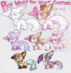 PYWY Customs/YCH! (CLOSED FOR NOW) by woodelands