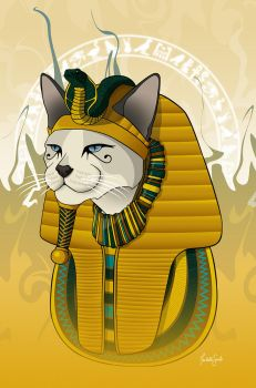 Pharaoh cat by isabelle-teixeira
