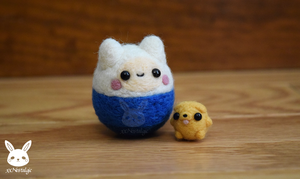 Felted Finn And Baby Jake by xxNostalgic