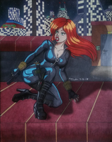 Black Widow pinup 002 by Tanoko