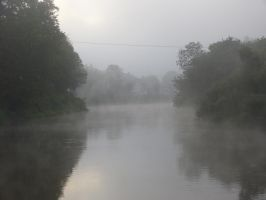 Morning mist on the Severn by coshipi