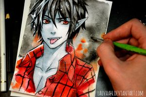Marshall Lee - Adventure Time by Laovaan