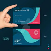 Fun Creative Shape Business Card Vector Template by pixiagraphics