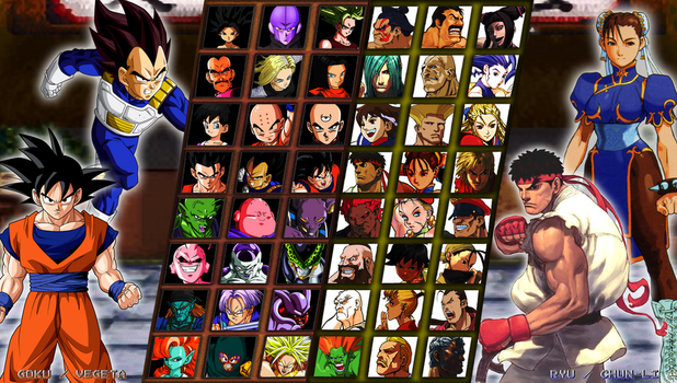 Street Fighter X Dragon Ball - My Roster by DENDEROTTO