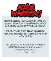 Adam Warren Font by shonenpunk