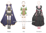 [CM] Monster Kingdom Outfit Sheet @LizzyDuffy by Aloise-chan