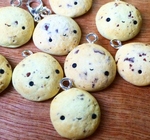 Handmade Realistic Polymer Clay Cookie Charms by anniscrafts