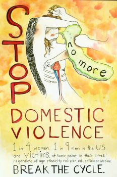 STOP Domestic Violence. by Stellaciel