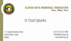 eleven rays memorial foundation biz card by okanime
