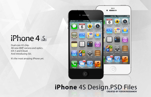 iPhone 4S PSD File by russanov