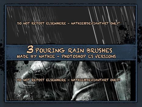 Pouring Rain Brush by nathies-stock