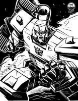 Megatron - Commission INKS by EryckWebbGraphics