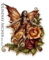 Red Rose Fairy by LinzArcher