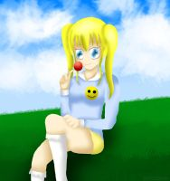 Blonde Girl Chilling to the Wind by ThanyTony