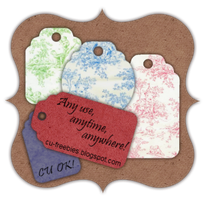Toile Gift Tags by Kathery