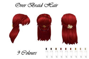 Over Braid Hair Download by LunaSukii
