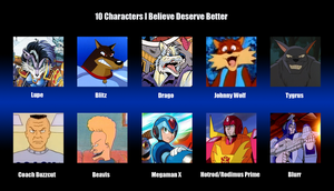 10 Characters Who Deserve Better by MDTartist83