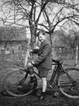 Boy with bicycle (historic picture) by UdoChristmann