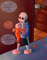 Messy kitchen and bros - Undertale by Returnmemory