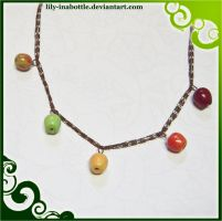 Apple Necklace by lily-inabottle