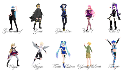 [MMD] Hyrule Warriors pose pack 3 by VioletCrystal259