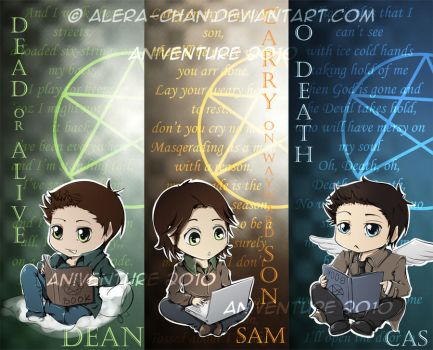 Supernatural Bookmarks by psyAlera