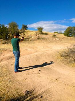 Me Shooting by featherfoot07