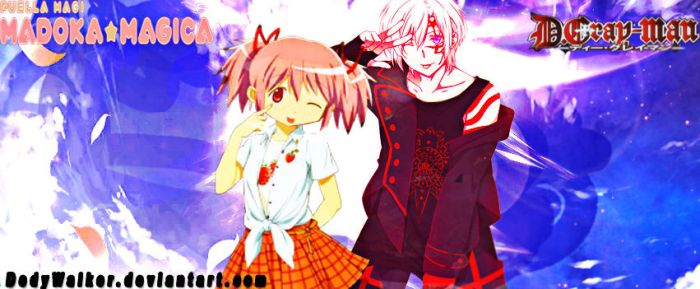 Allen Couple With Madoka by DedyWalker