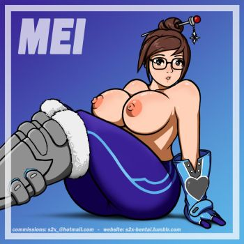 Mei - Overwatch - Topless by S2Xthe5th