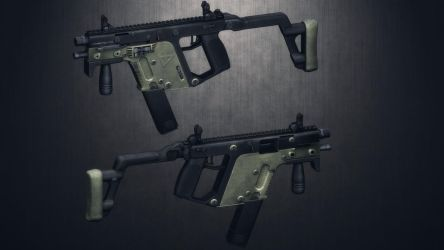 [MMD] 45.ACP Kriss Vector (Ripped)(WIP) by AbyssLeo