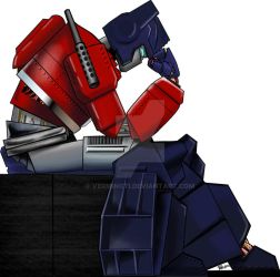 Optimus Thinking by VerminGTi