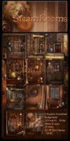 SteamPunk Rooms backgrounds by moonchild-lj-stock