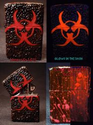 BioHazard Zippo by Undead Ed Glows in the Dark 1 by Undead-Art