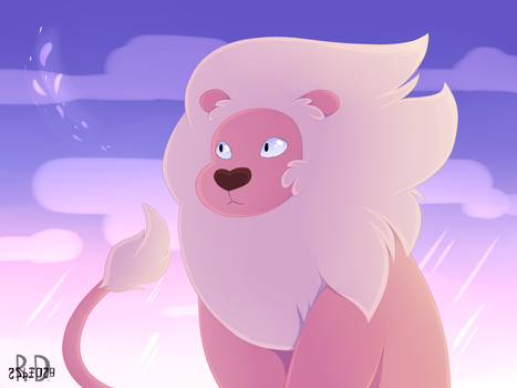 Pink lion by Re-RD-Re