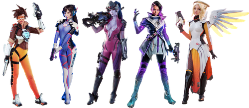 Overwatch Girls Png by Gasa979