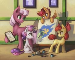 Painting lesson by Asimos