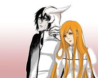 Ulquiorra And Orihime by SchifferCake