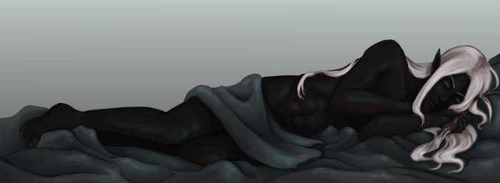 Commission- sleeping Mazarun by Lilith-the-5th