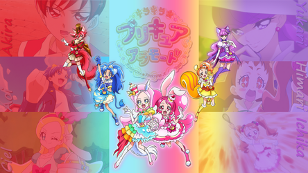 Wallpaper - KiraKira Precure A La Mode by Zecter-the-Hedgehog