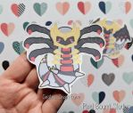 Chibi Giratina Origin Form Stickers and Magnets by pixelboundstudios