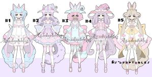 Magical unicorn girl adoptable batch open by AS-Adoptables