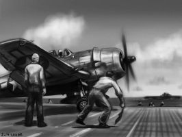 F6F-5 Hellcat by wave-lens
